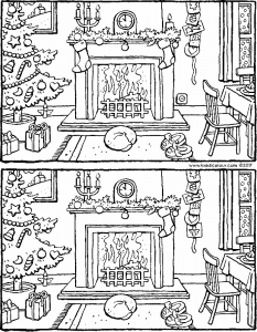 spot the five differences for Christmas