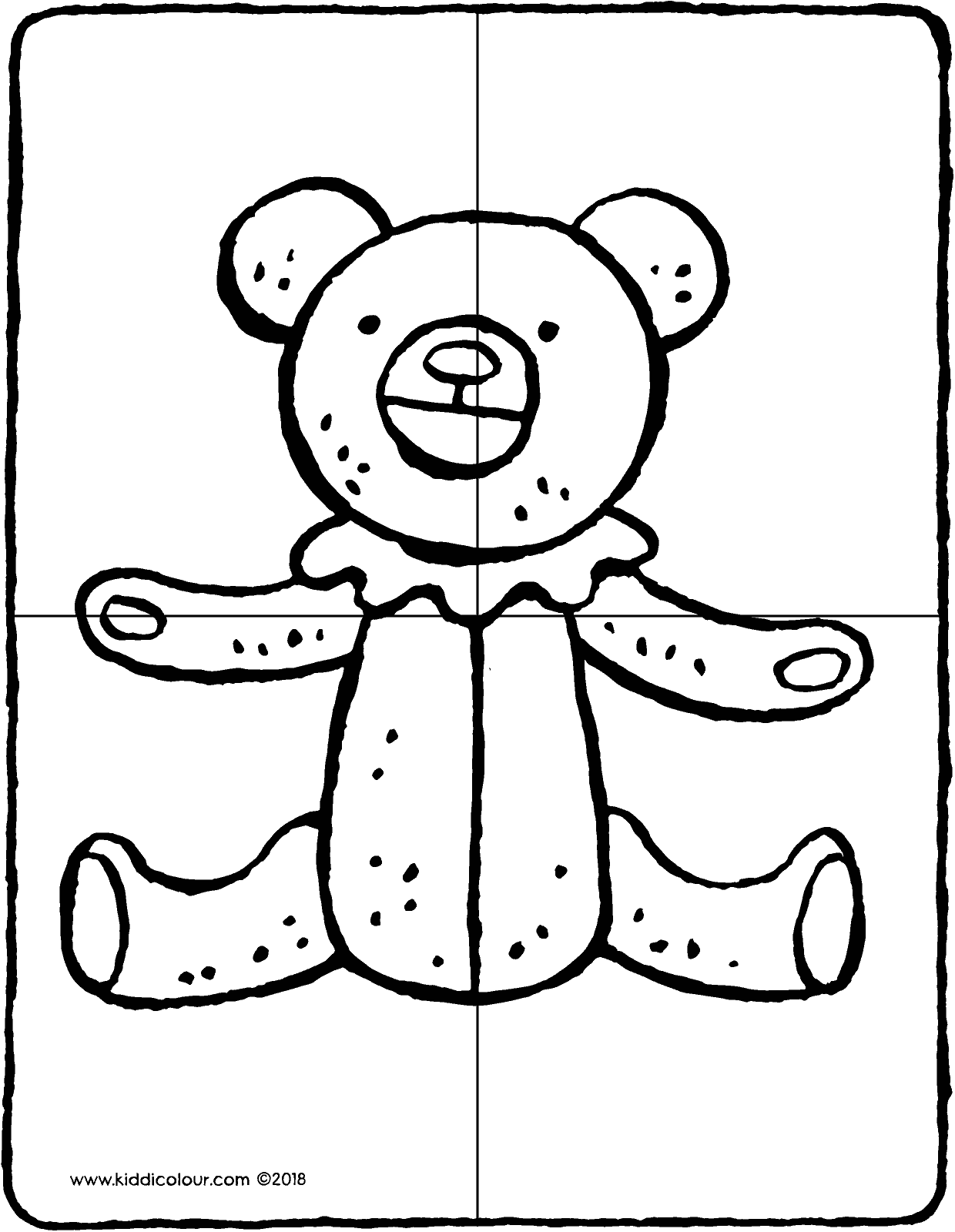 make a teddy puzzle kiddicolour