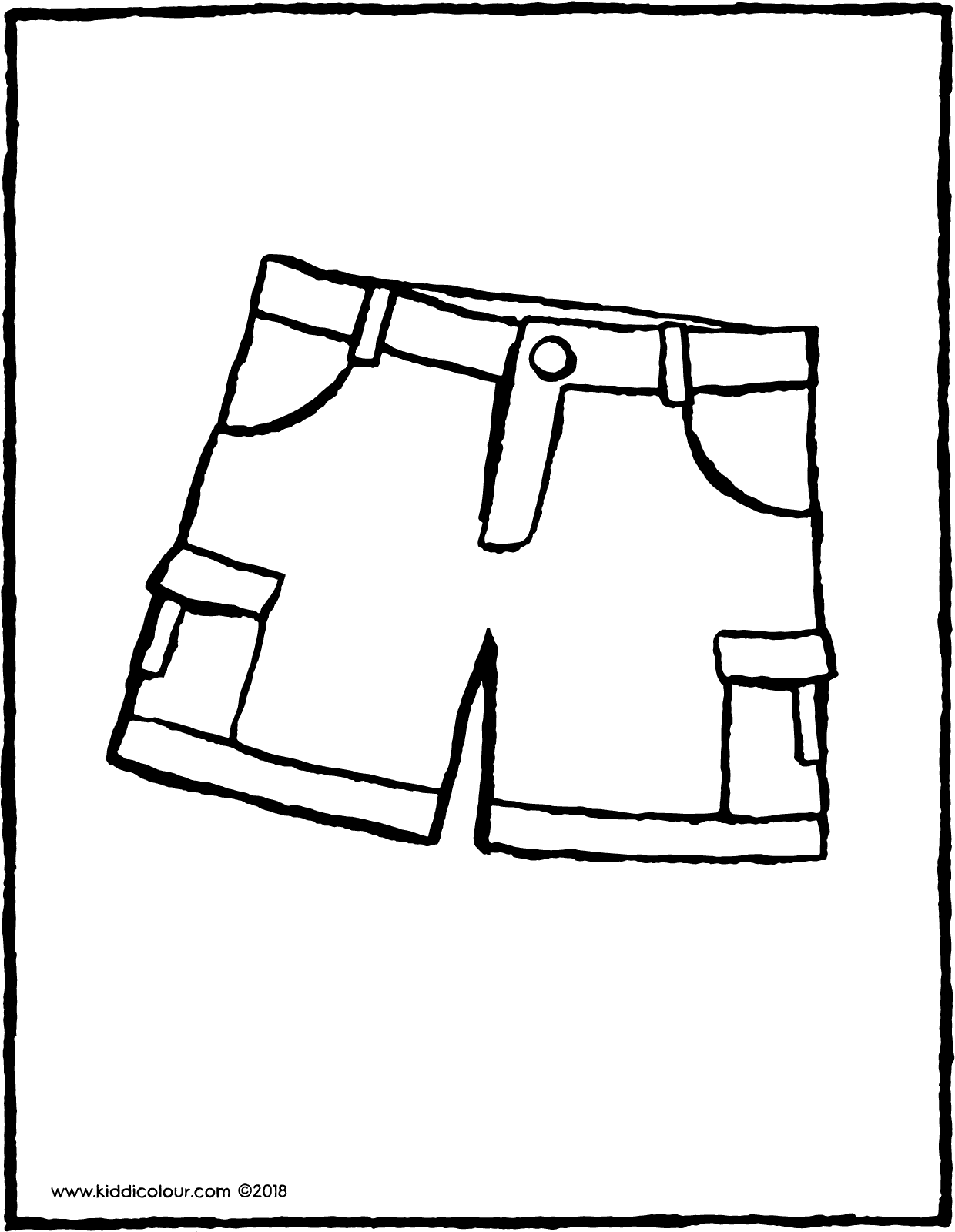 shorts colouring page drawing picture