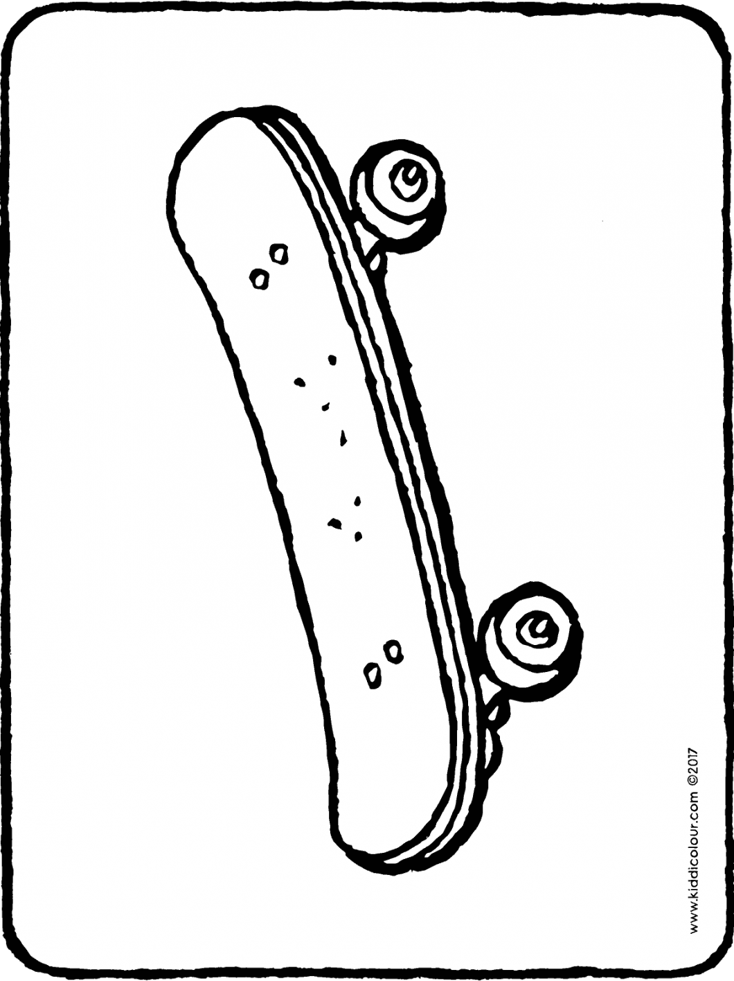 skateboard colouring page drawing picture 01H