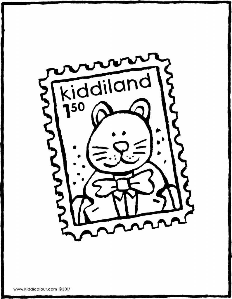 stamp colouring page drawing picture 01V
