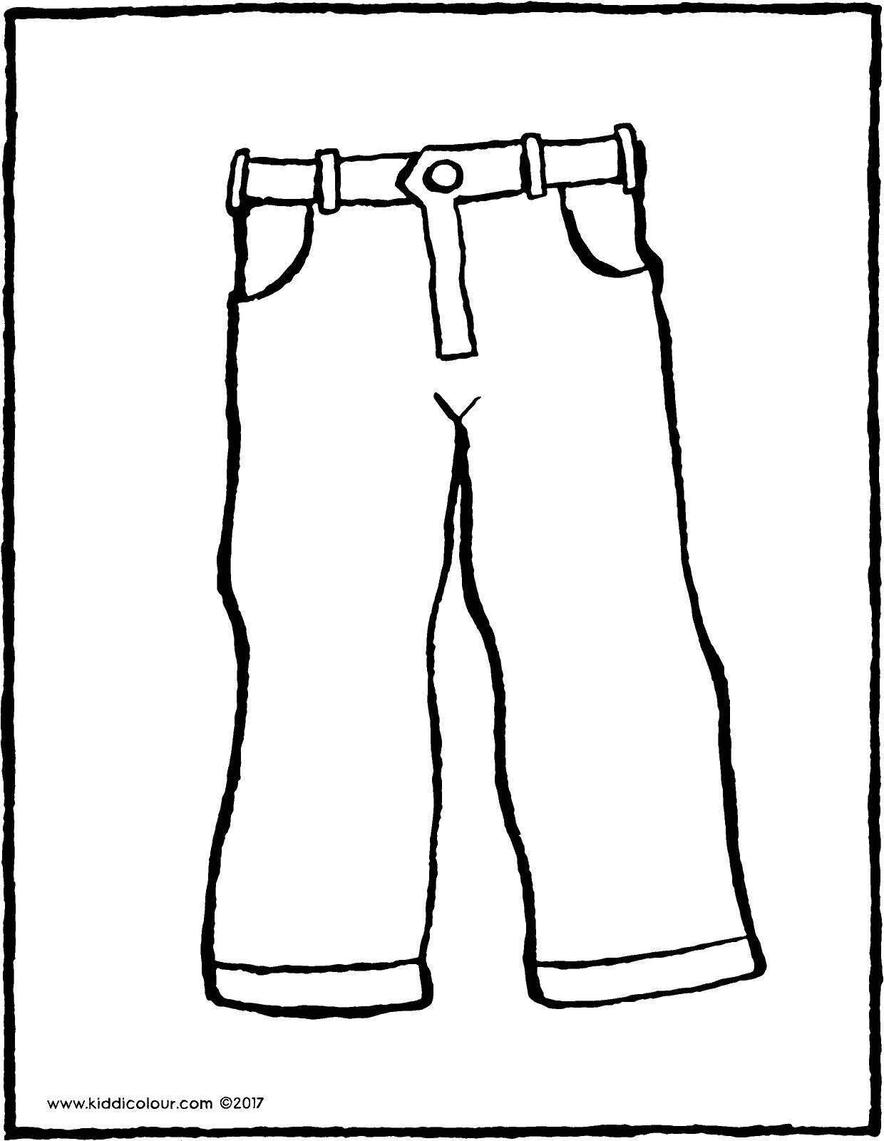 trousers colouring page drawing picture 01V