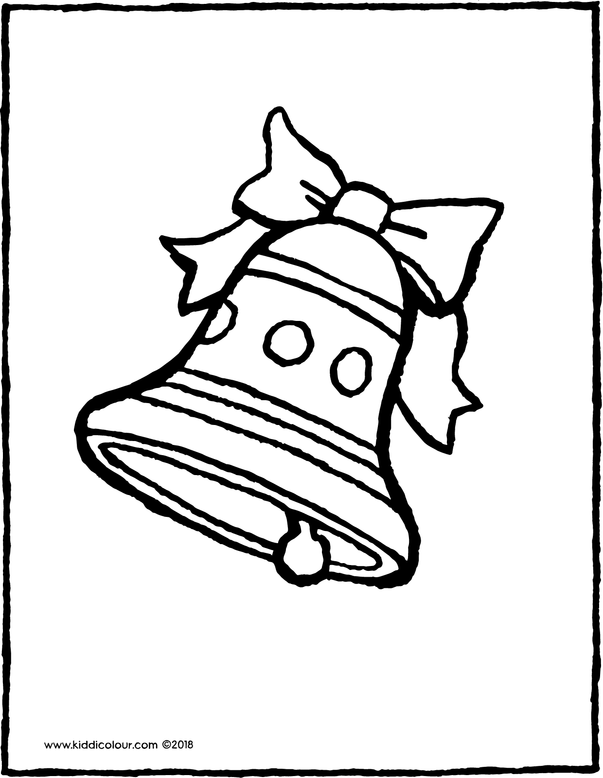 Easter bell colouring page drawing picture 01V