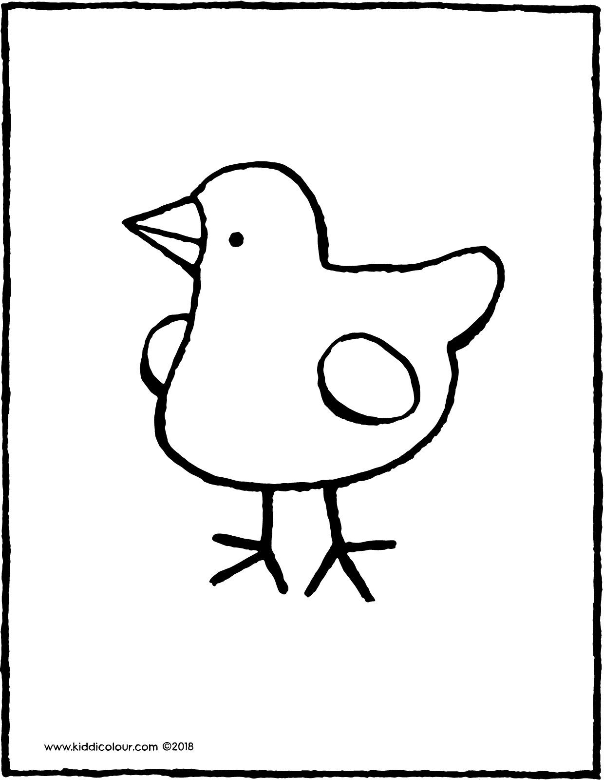chick colouring page drawing picture 01V
