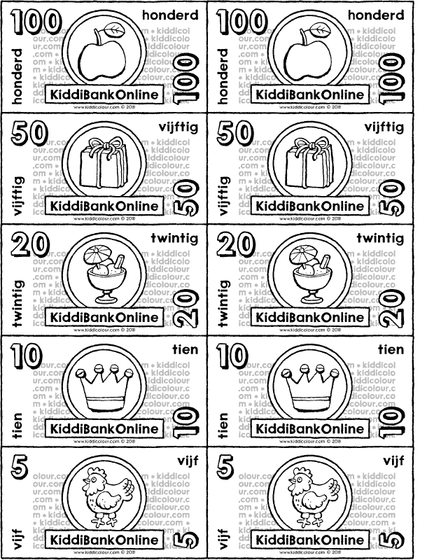 crafting banknotes colouring page drawing picture 01k