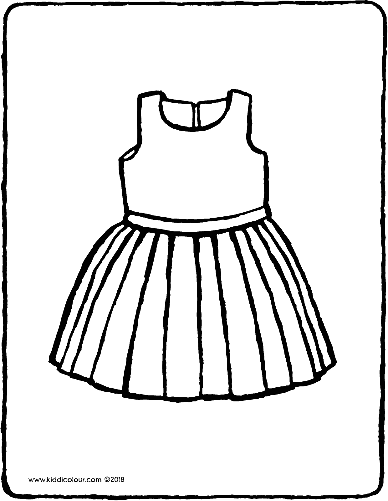 dress colouring page drawing picture 01V