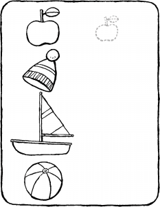 draw a smaller version of the objects