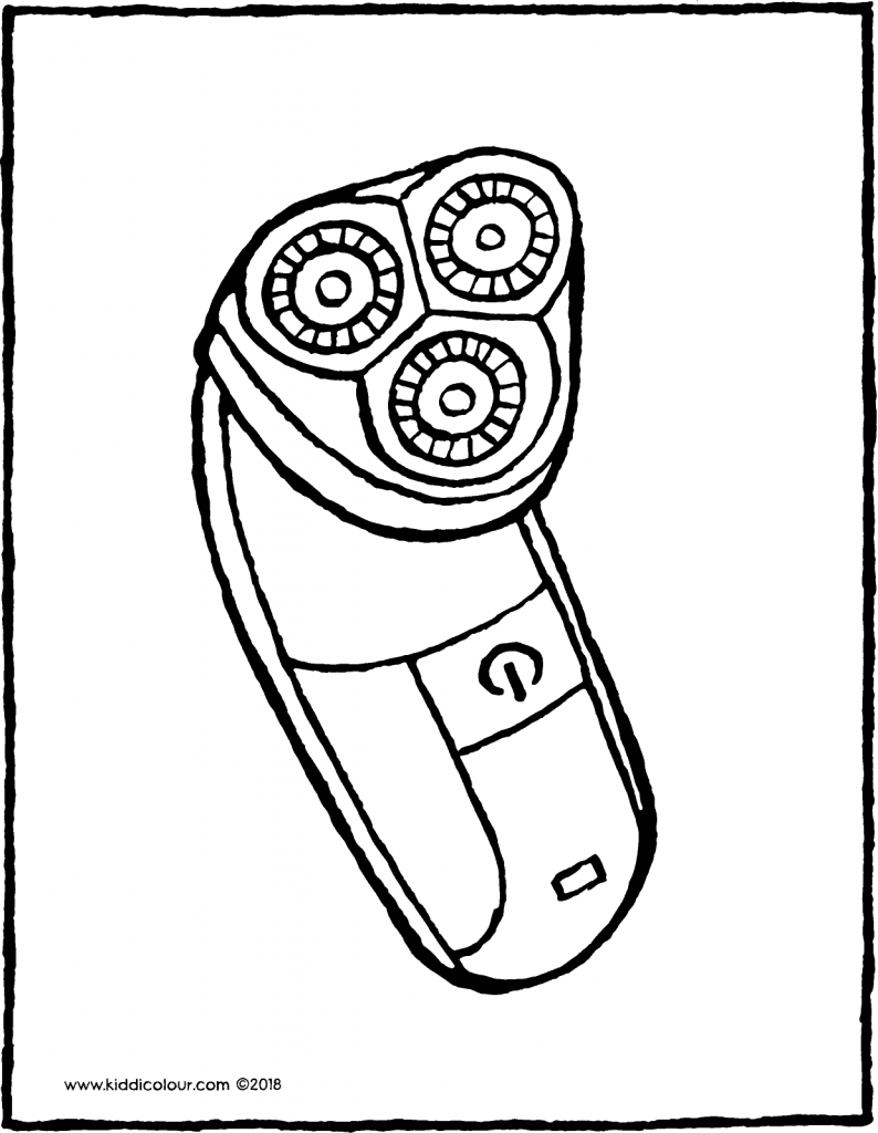 shaver colouring page drawing picture 01V