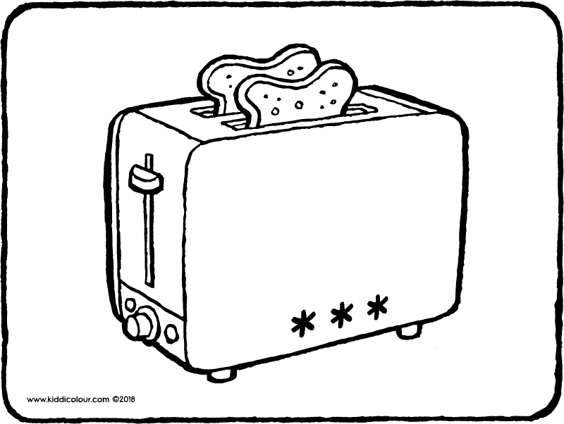 Toaster Colouring Page Drawing Picture 01k