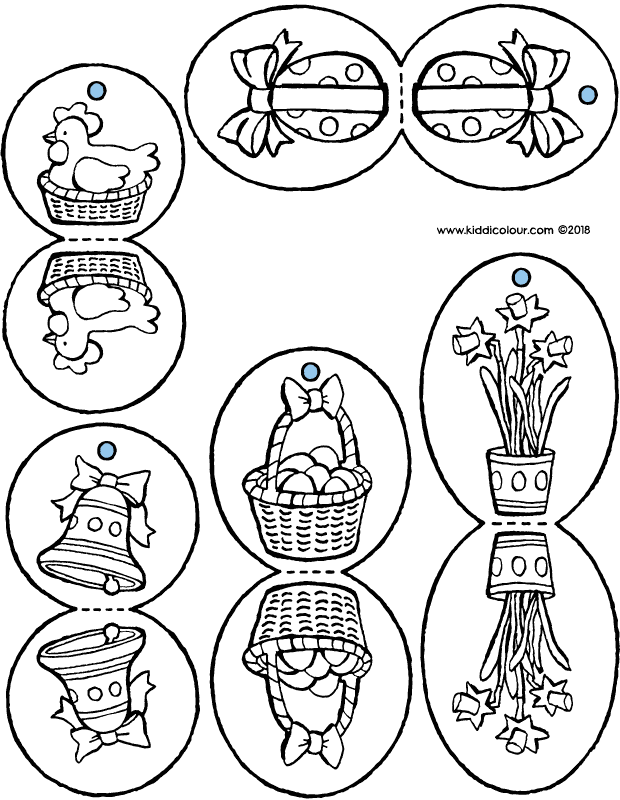 crafting decorations for the Easter tree colouring page drawing picture 01k