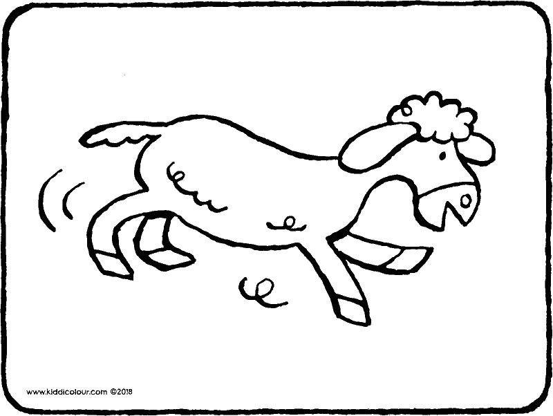 lamb colouring page drawing picture 01k