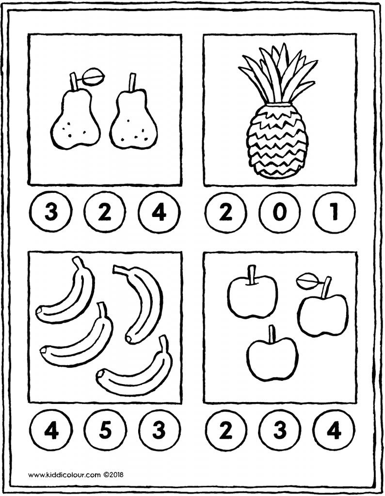 count the pieces of fruit