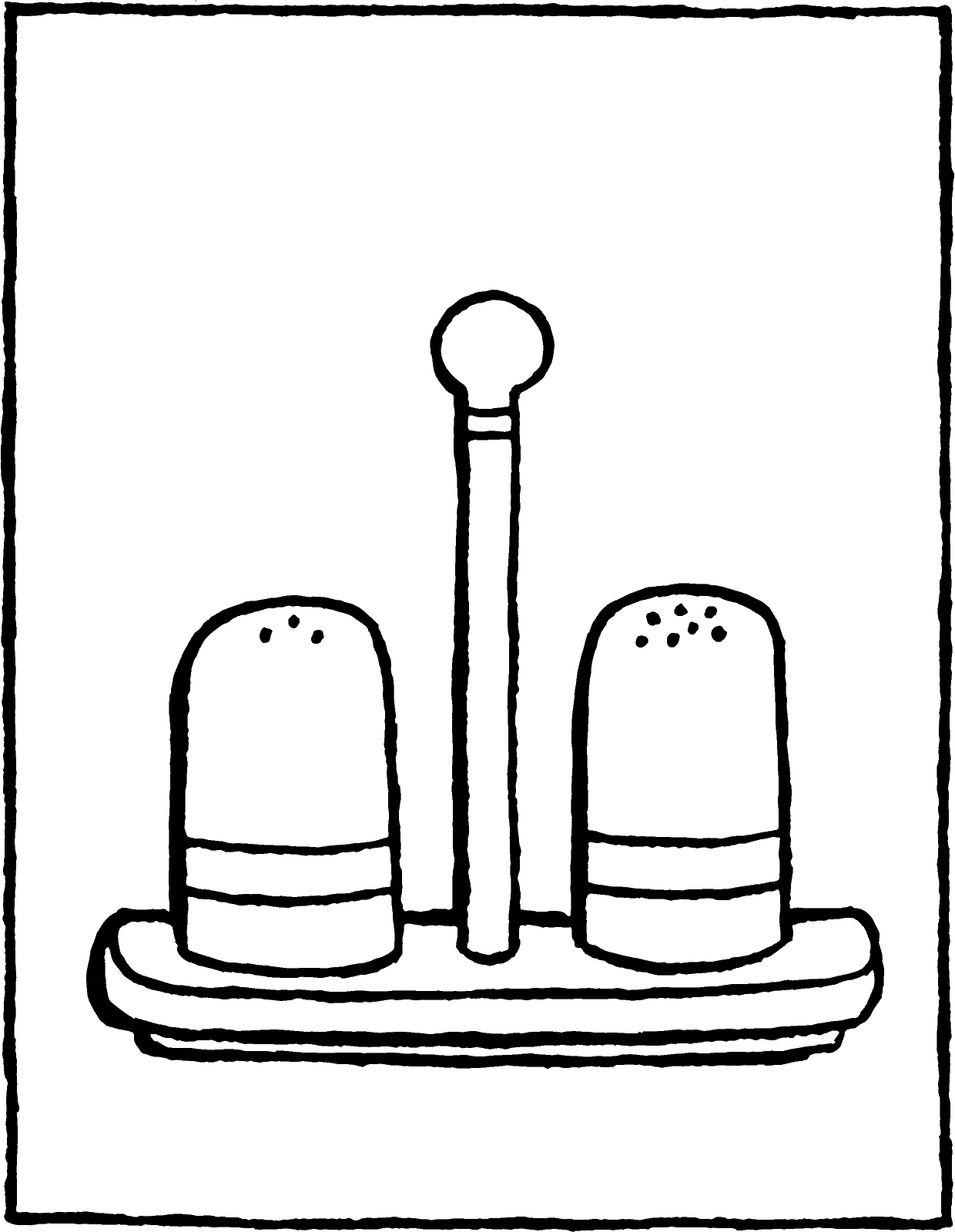 salt and pepper pots colouring page drawing picture 01V