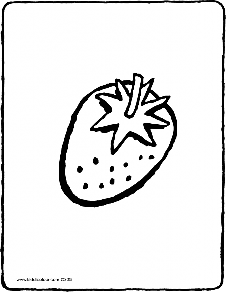 strawberry colouring page drawing picture 01V