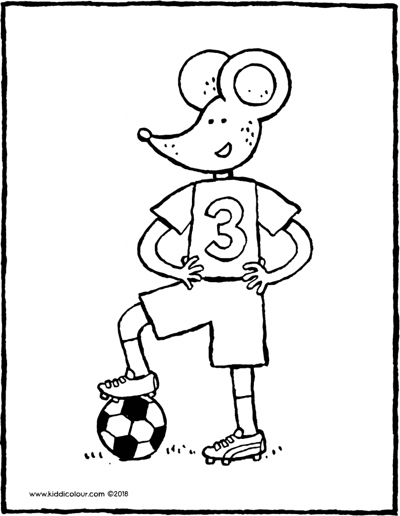 Thomas in his football kit colouring page drawing picture 01V
