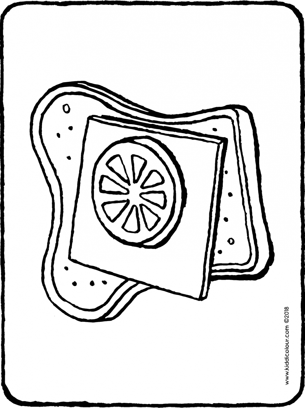 a cheese and tomato sandwich colouring page drawing picture 01H