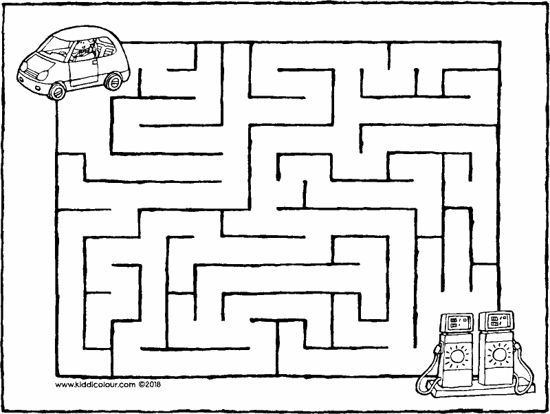fill up the car maze