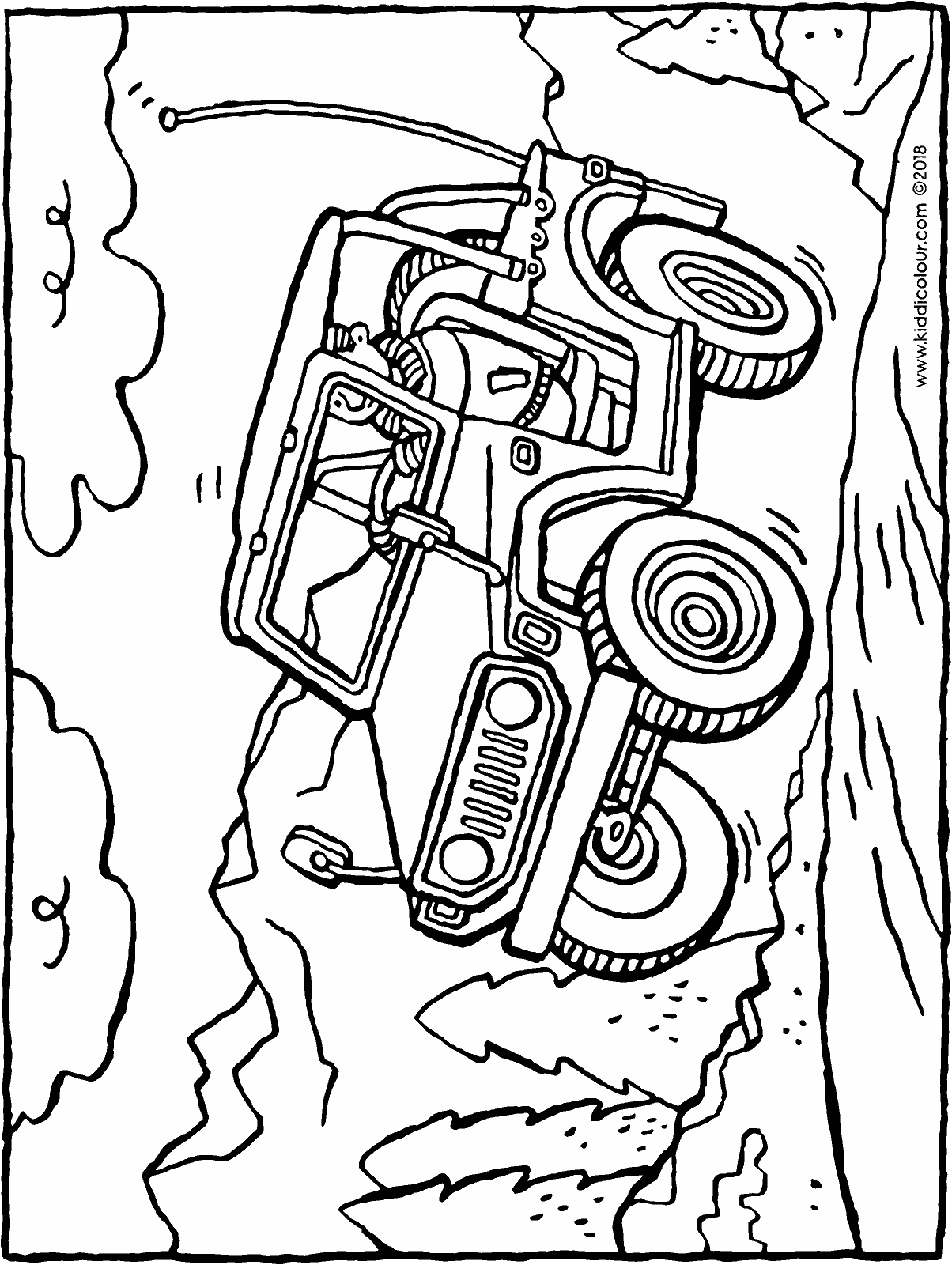jeep colouring page drawing picture 01H