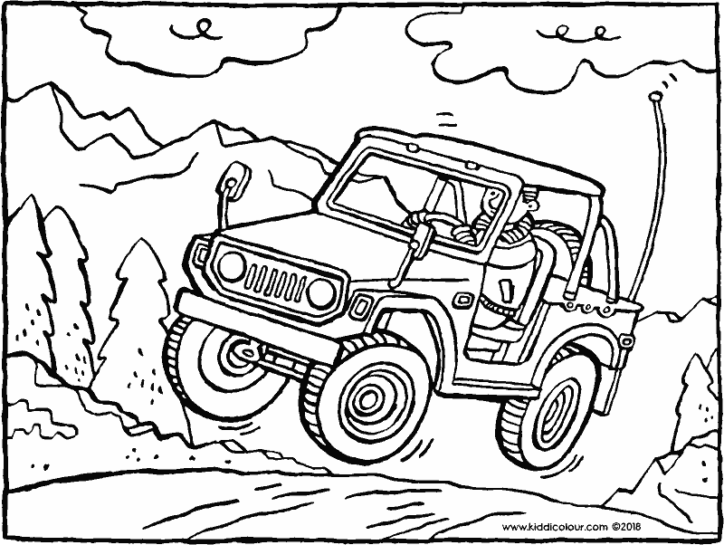 jeep colouring page drawing picture 01k