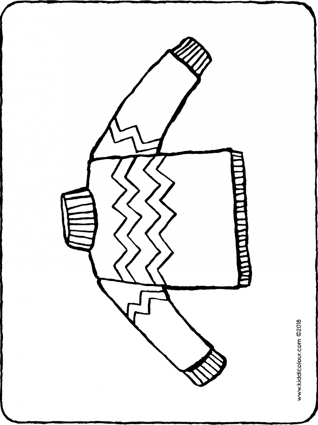 jumper colouring page drawing picture 01H