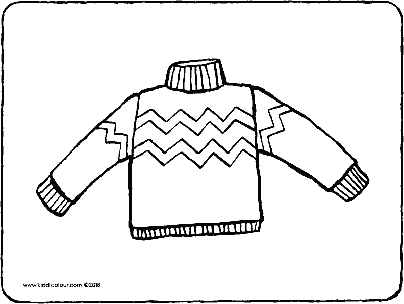 jumper colouring page drawing picture 01k