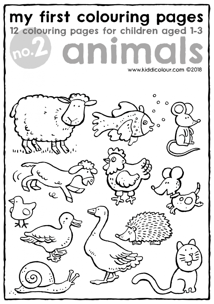 my first colouring pages no. 2: animals