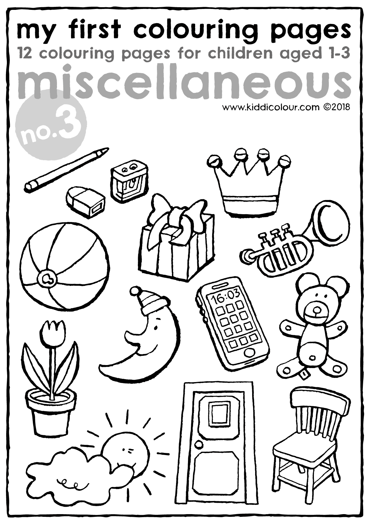 my first colouring pages no. 3: miscellaneous