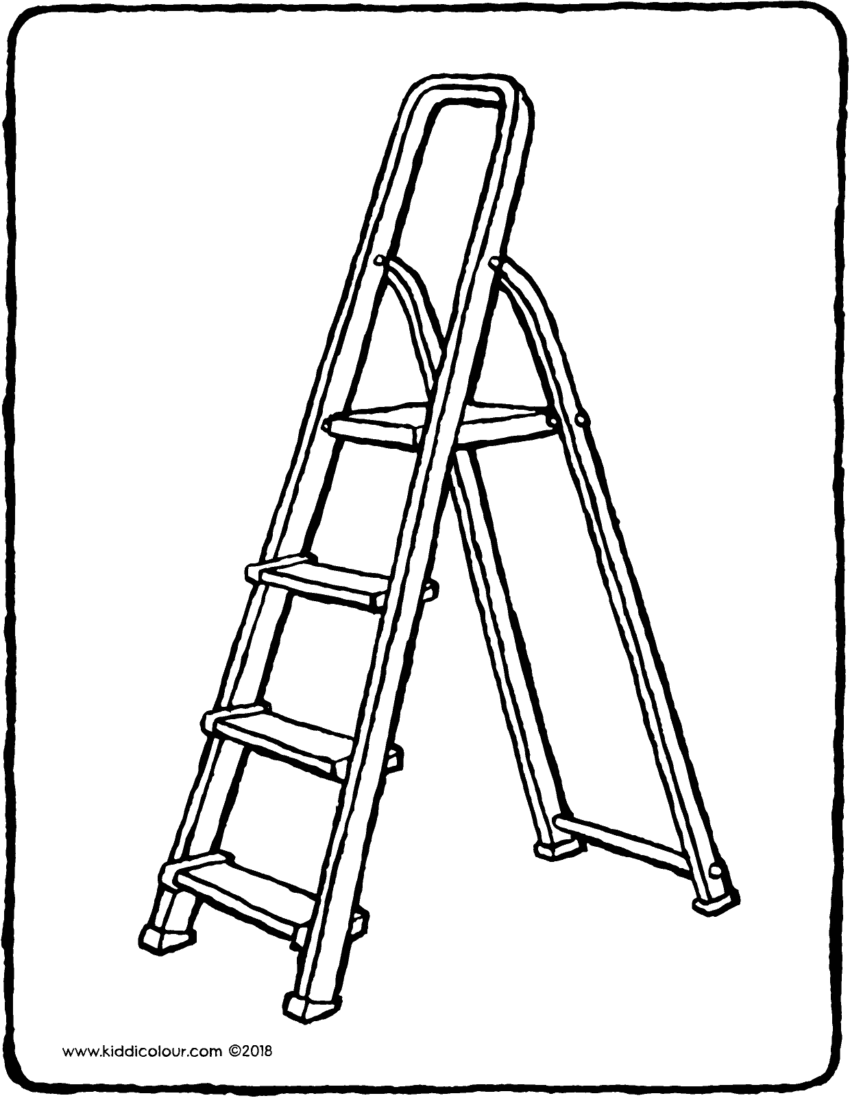 ladder colouring page drawing picture 01V
