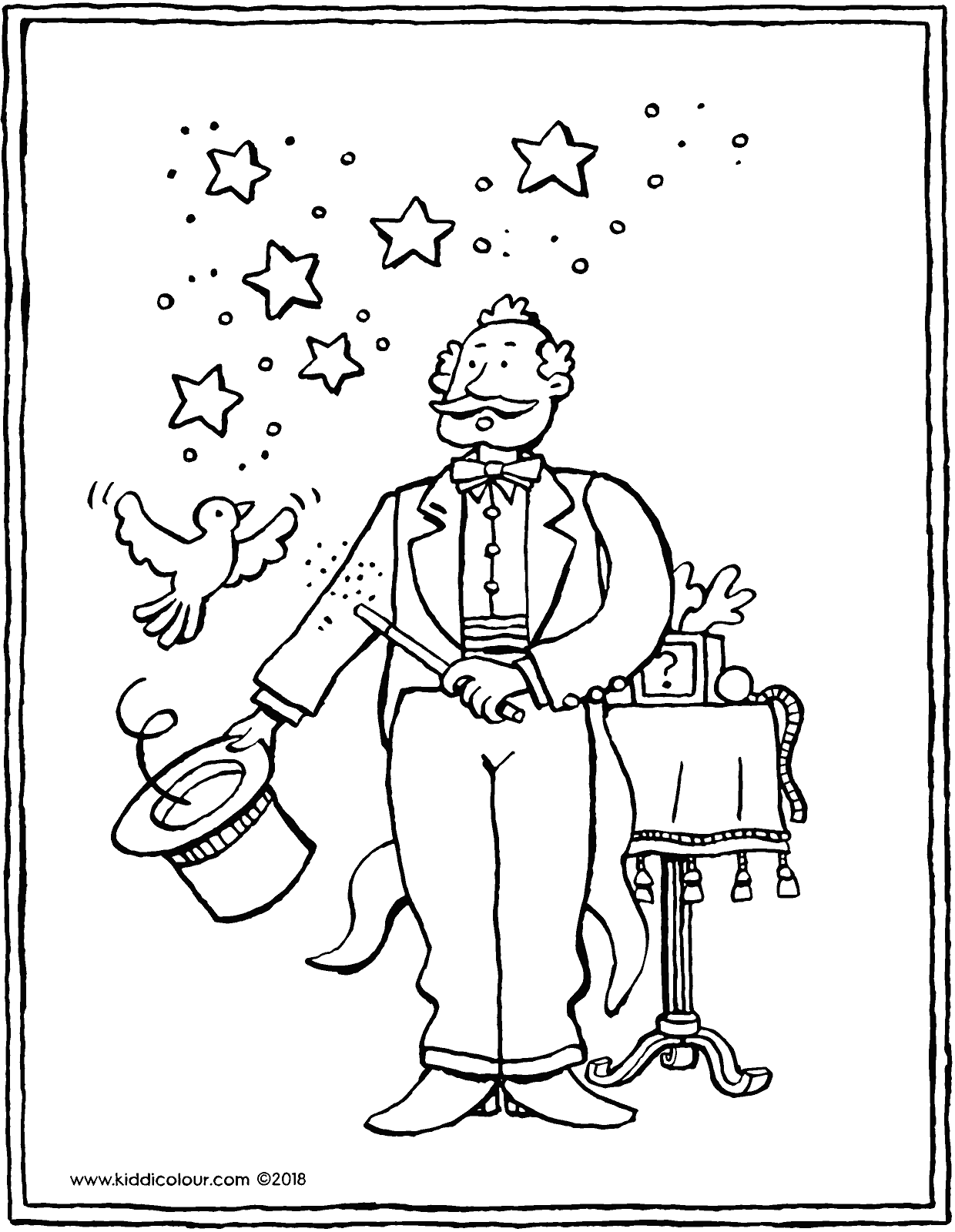 It's just a picture of Stupendous Magician Coloring Pages
