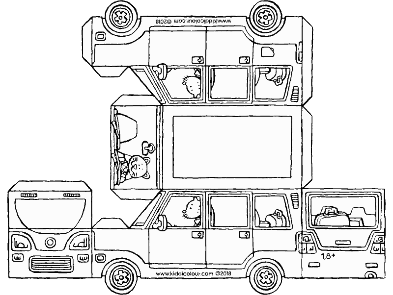 make your own SUV colouring page drawing picture 01k