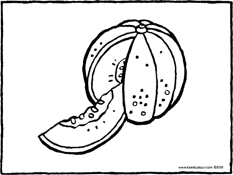 melon colouring page drawing picture 01k