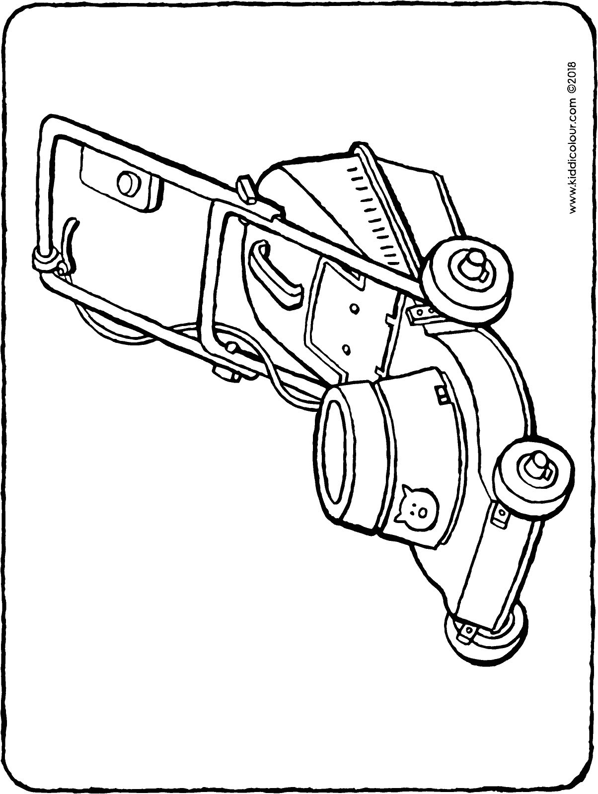 mower colouring page drawing picture 01H