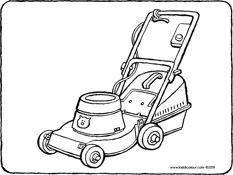 mower colouring page drawing picture 01k