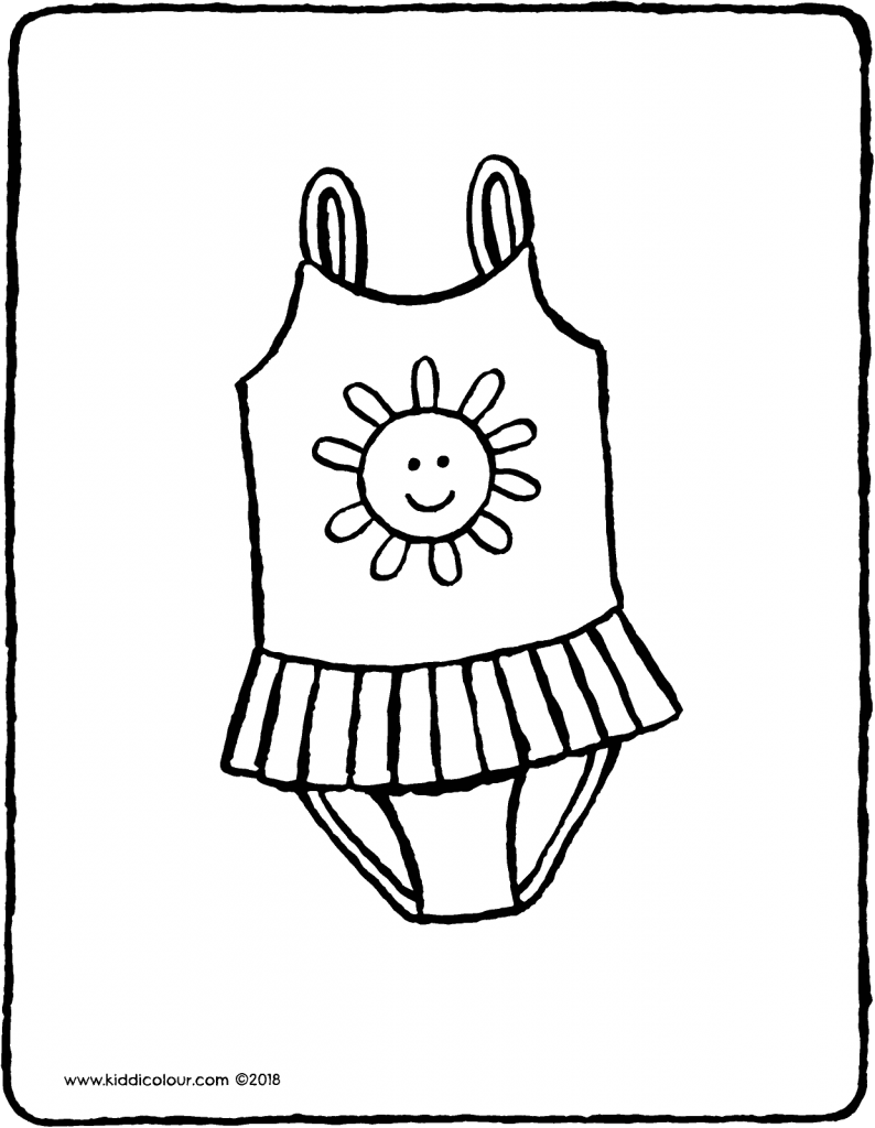 swimsuit colouring page drawing picture 01V