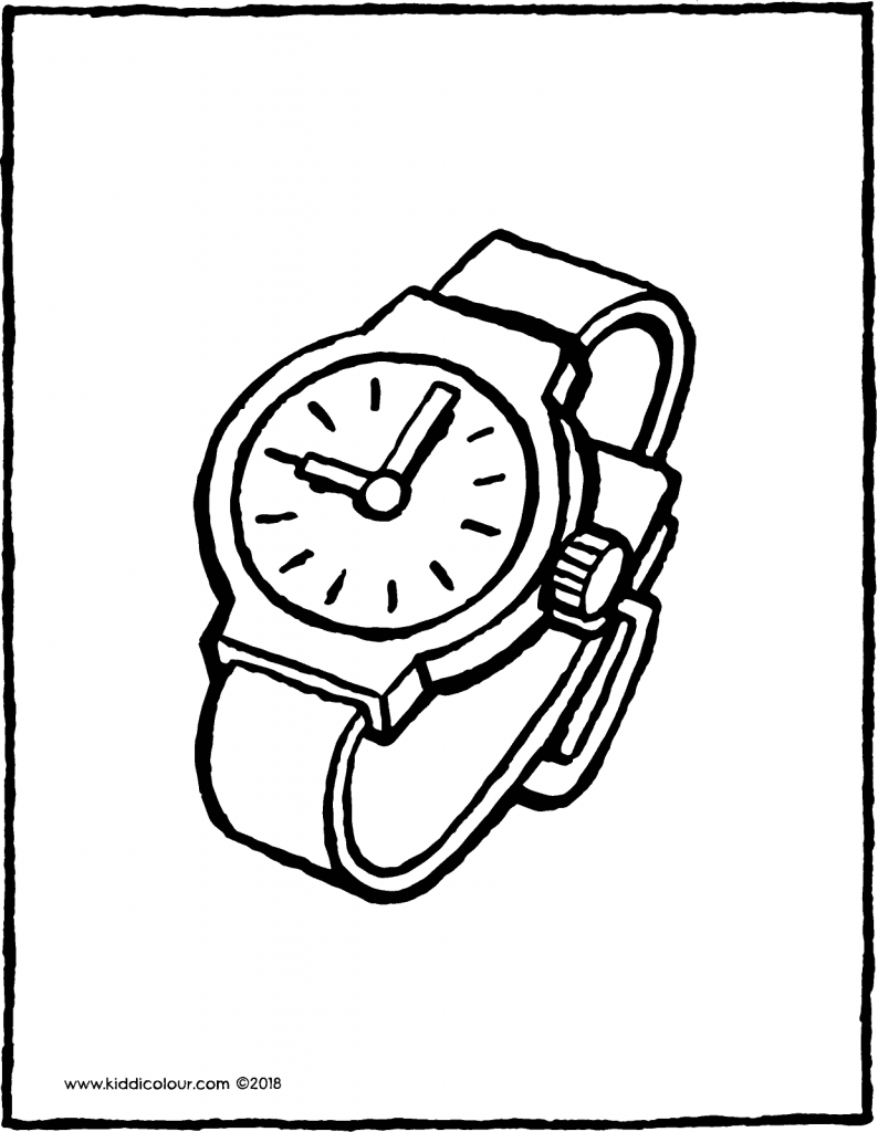 watch colouring page drawing picture 01V