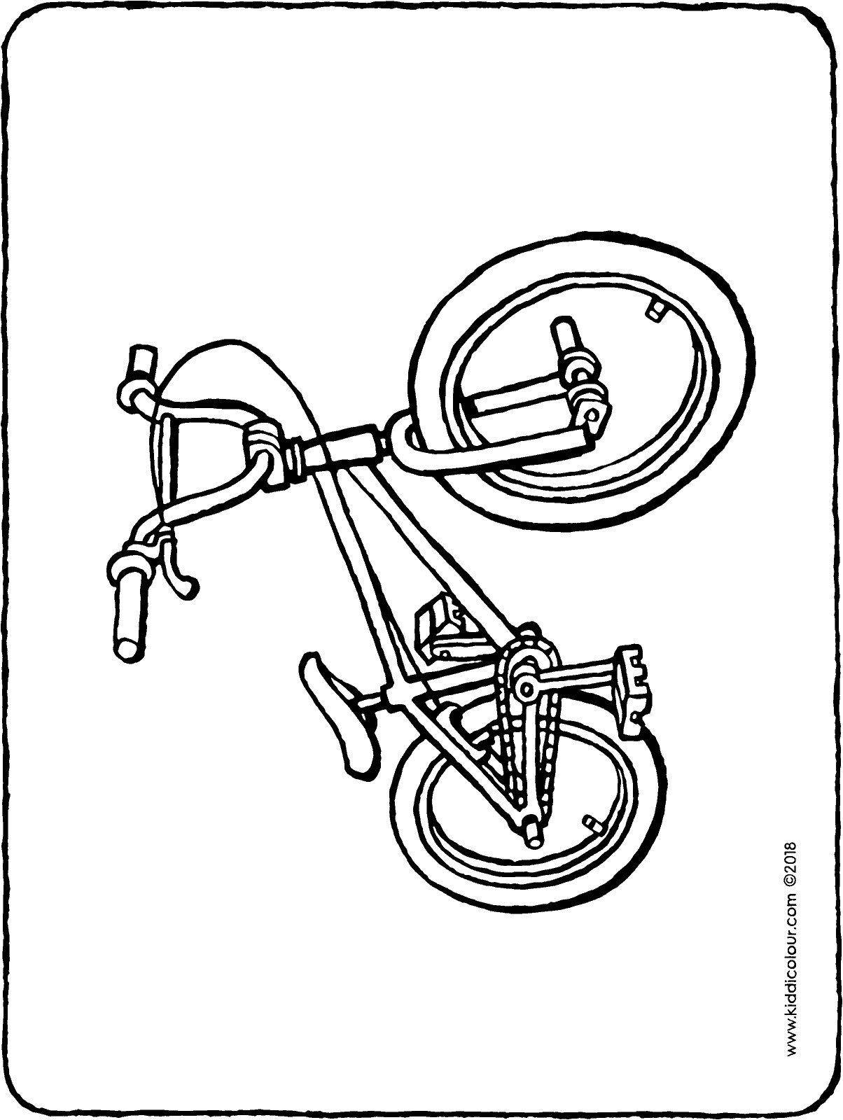 BMX bike colouring page drawing picture 01H