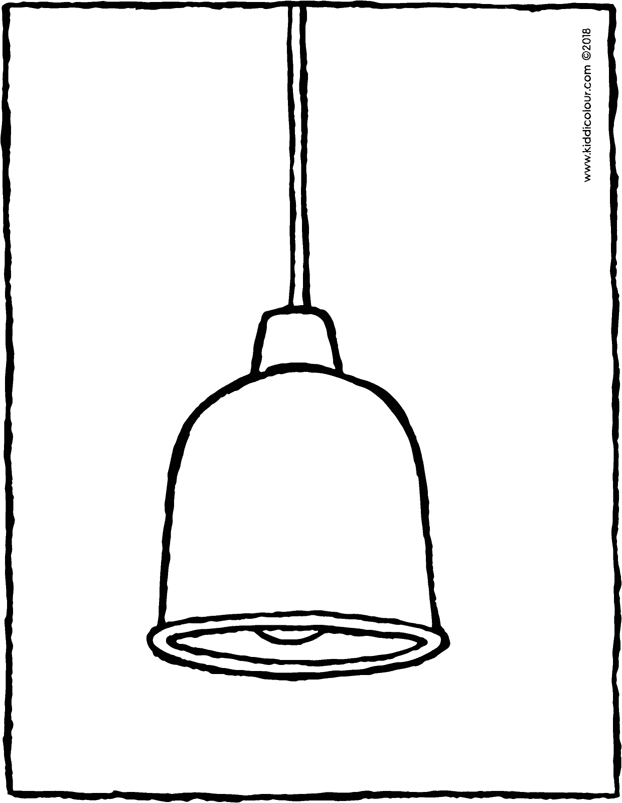 hanging lamp colouring page drawing picture 01V
