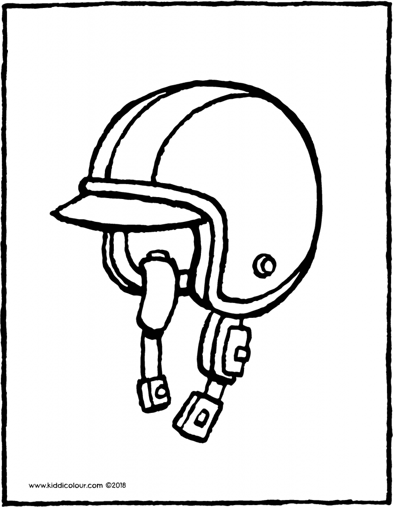 helmet colouring page drawing picture 01V