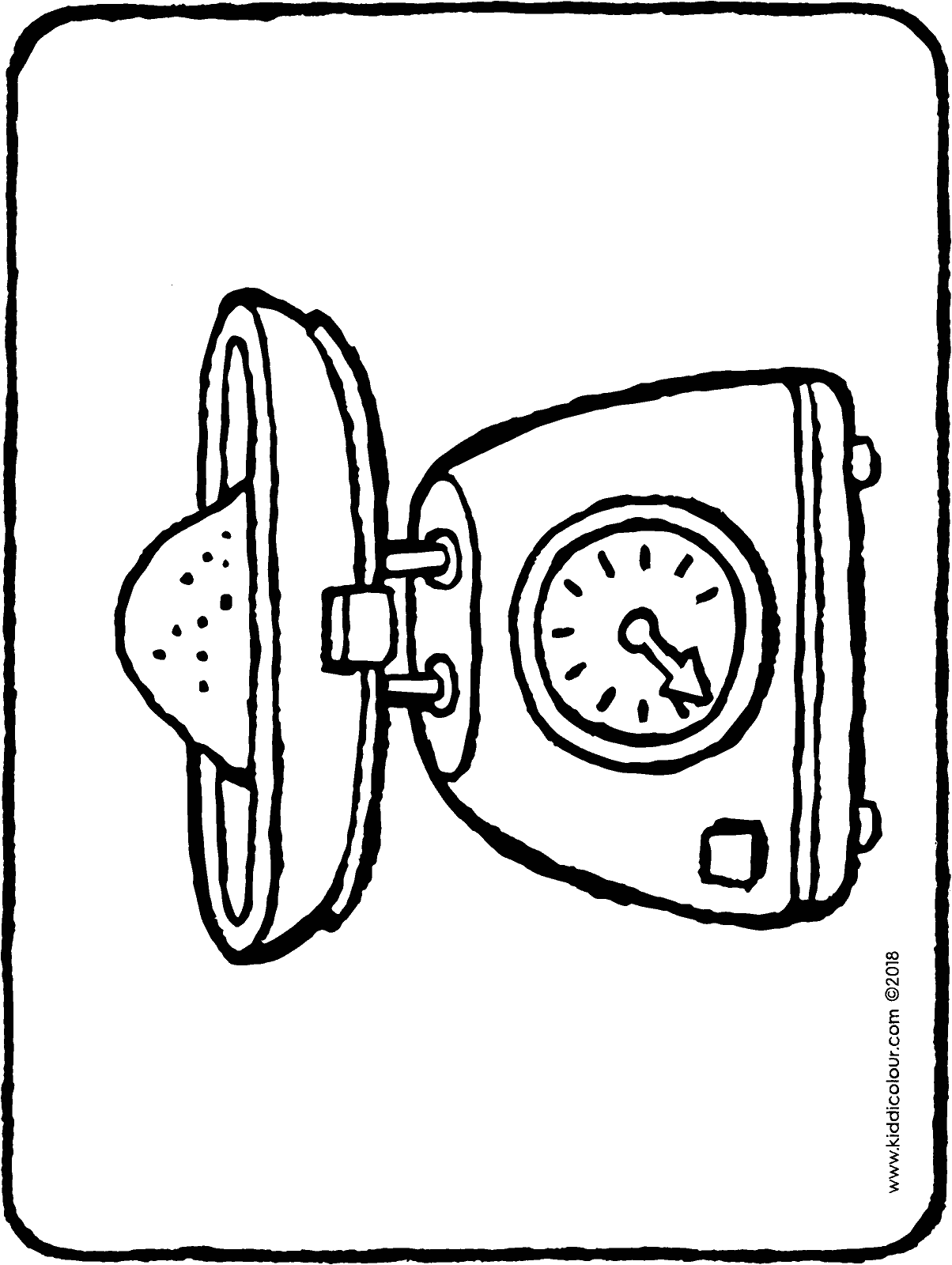 kitchen scales colouring page drawing picture 01H