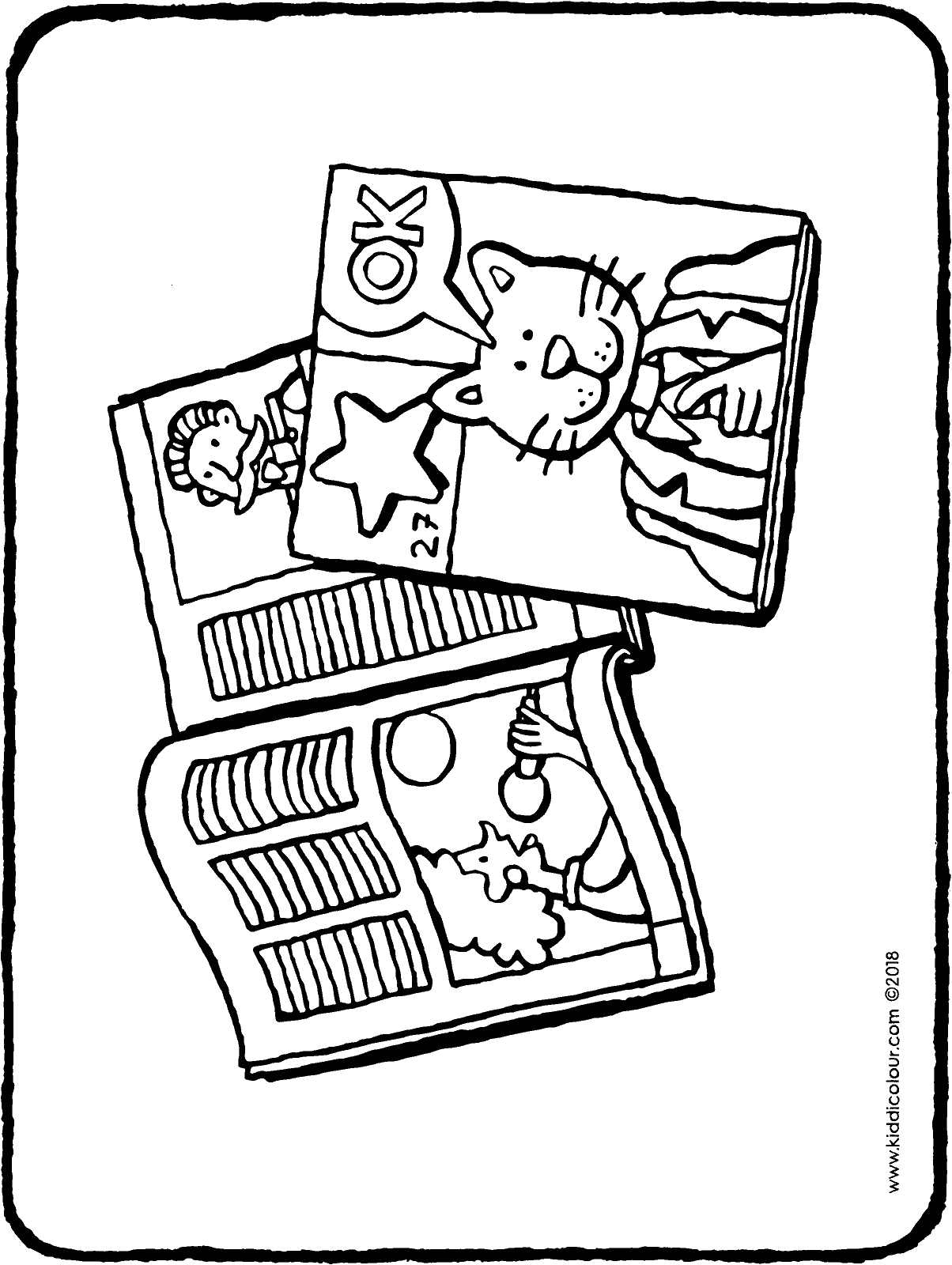 magazine colouring page drawing picture 01H