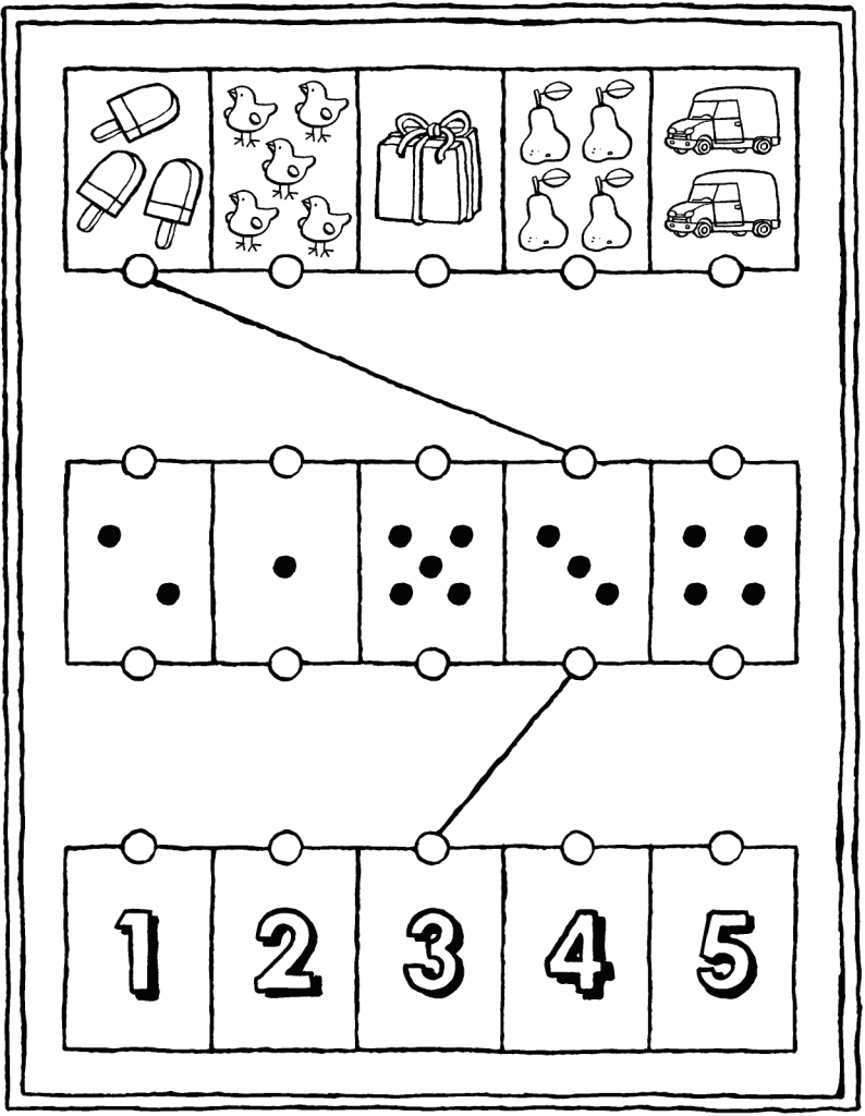 number sense exercise from 1 to 5