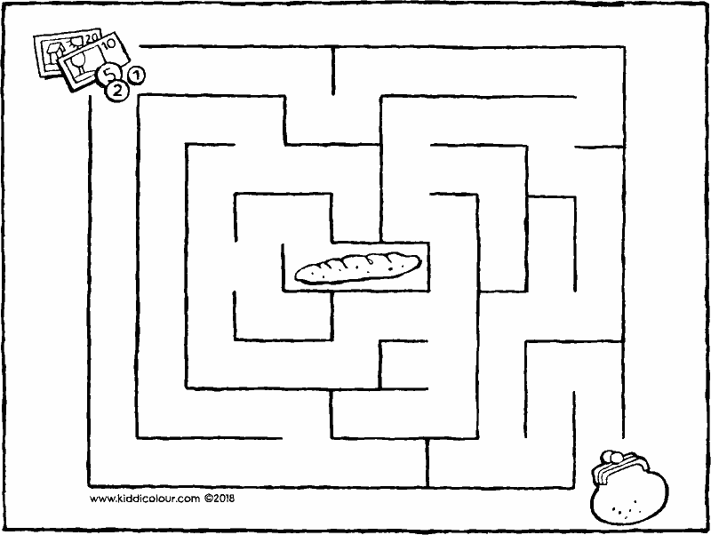 Labyrinthe types colouring pages - kiddimalseite
