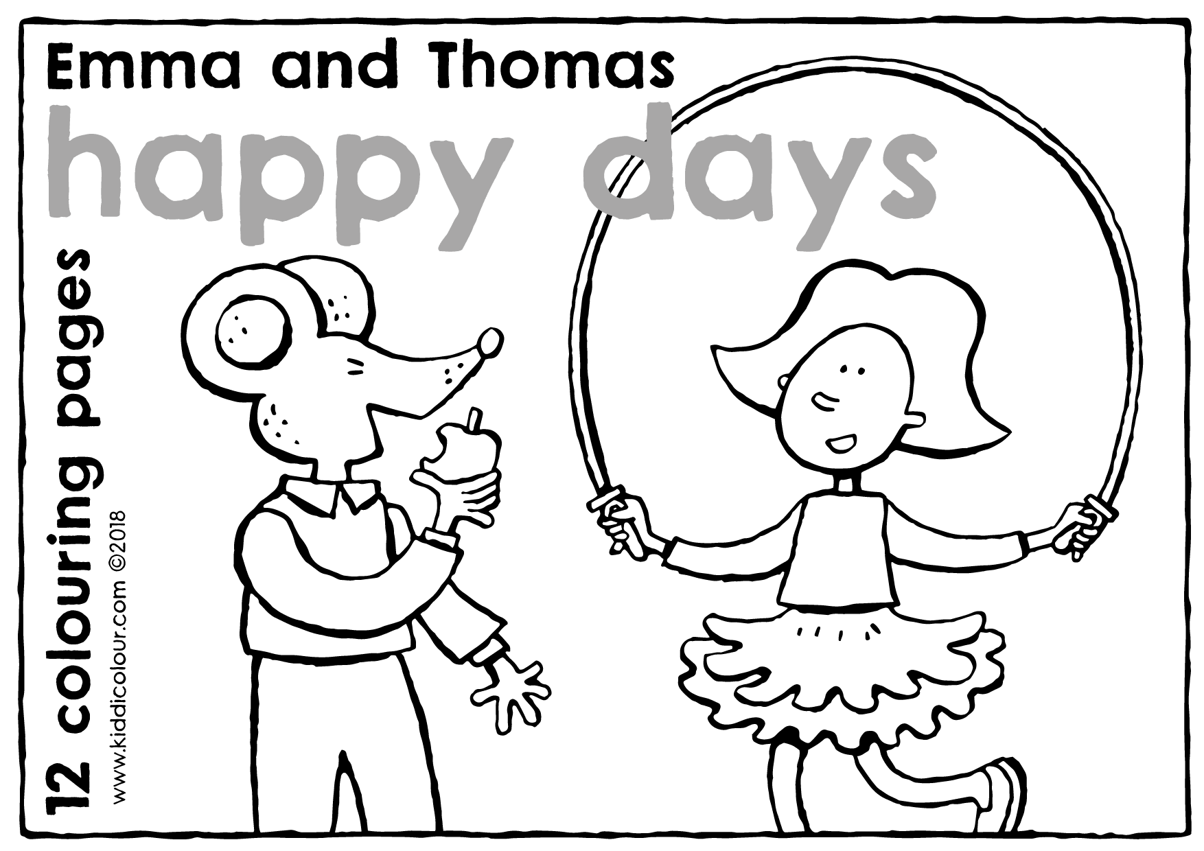 Emma and Thomas colouring book: happy days