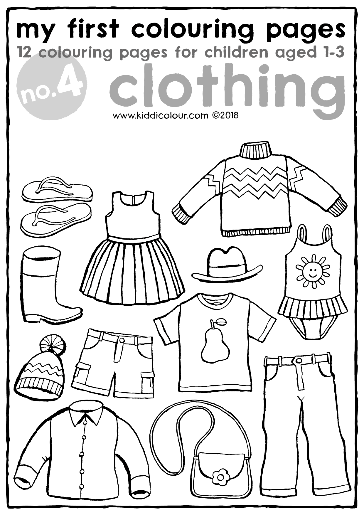 my first colouring pages no. 4: clothing