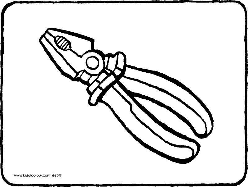 pliers colouring page drawing picture 01k