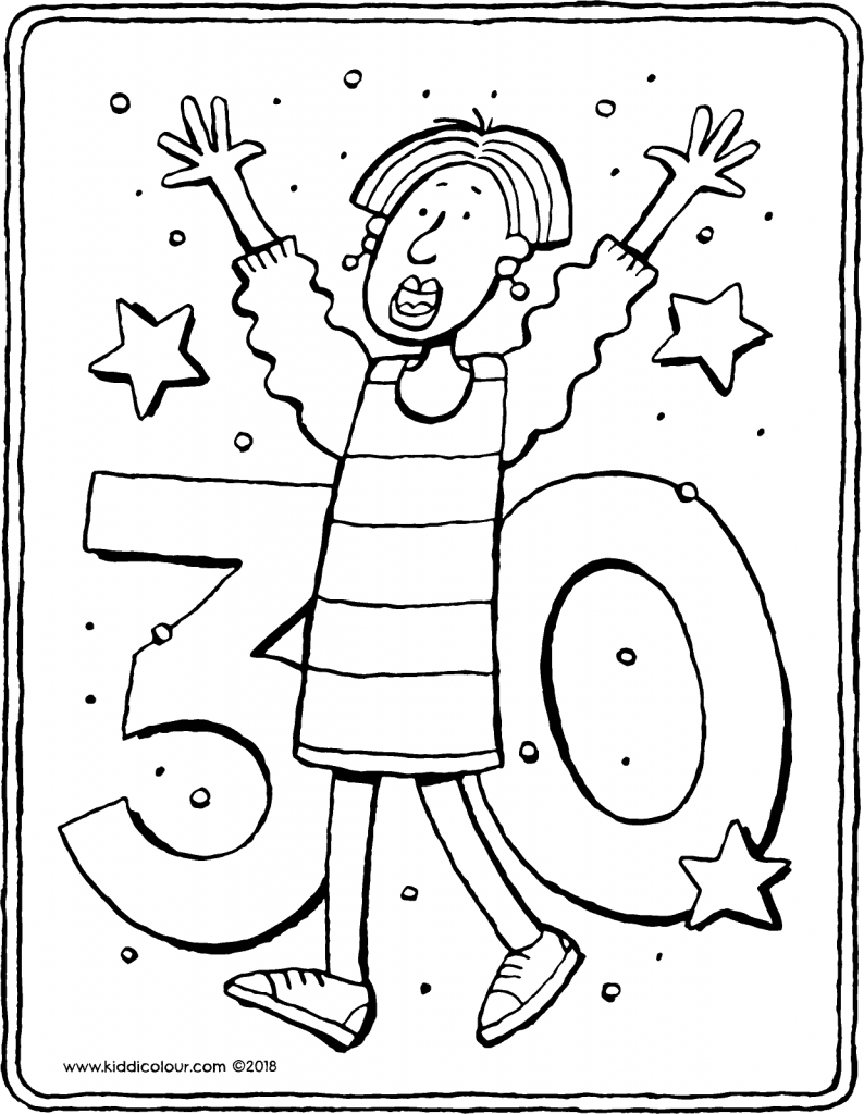 30 today colouring page drawing picture 01V