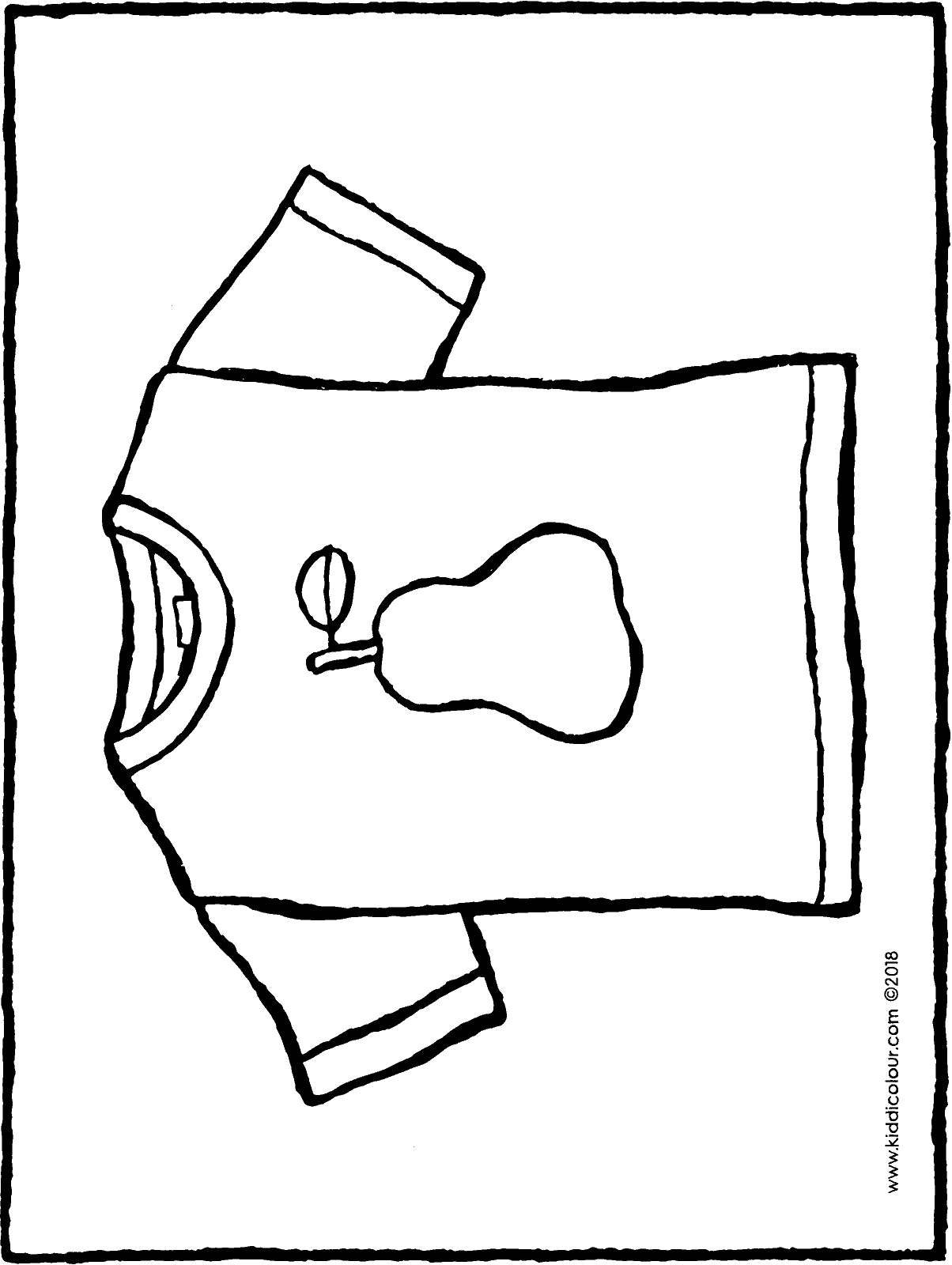 T-shirt colouring page drawing picture 01H