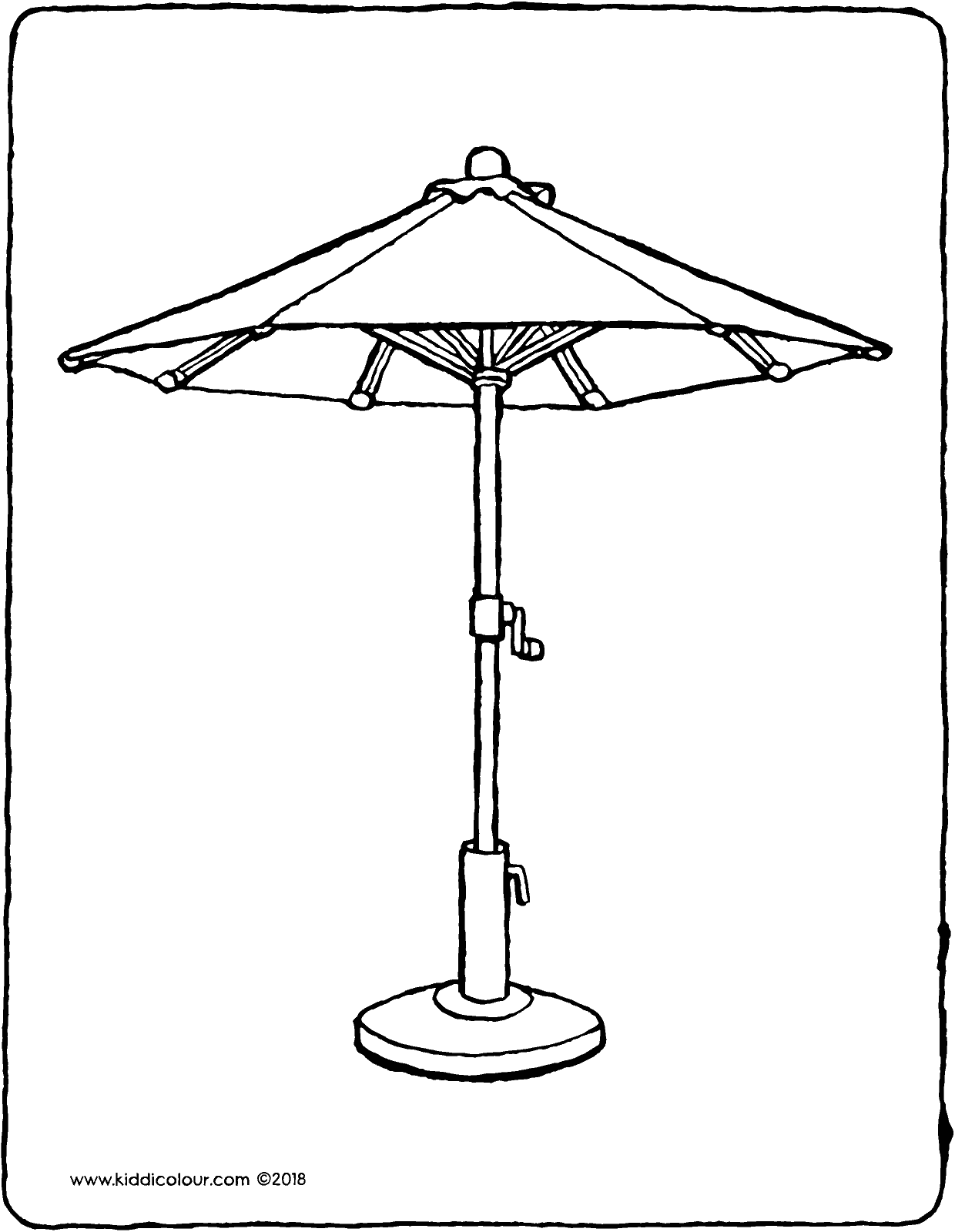garden parasol colouring page drawing picture 01V