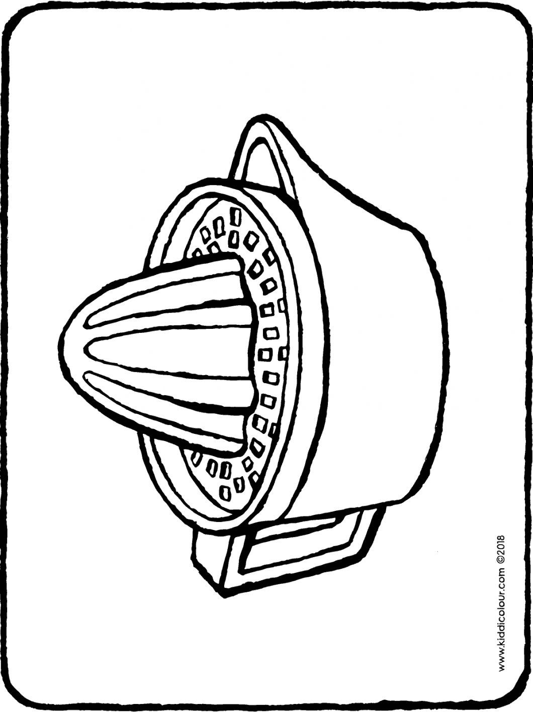 juicer colouring page drawing picture 01H
