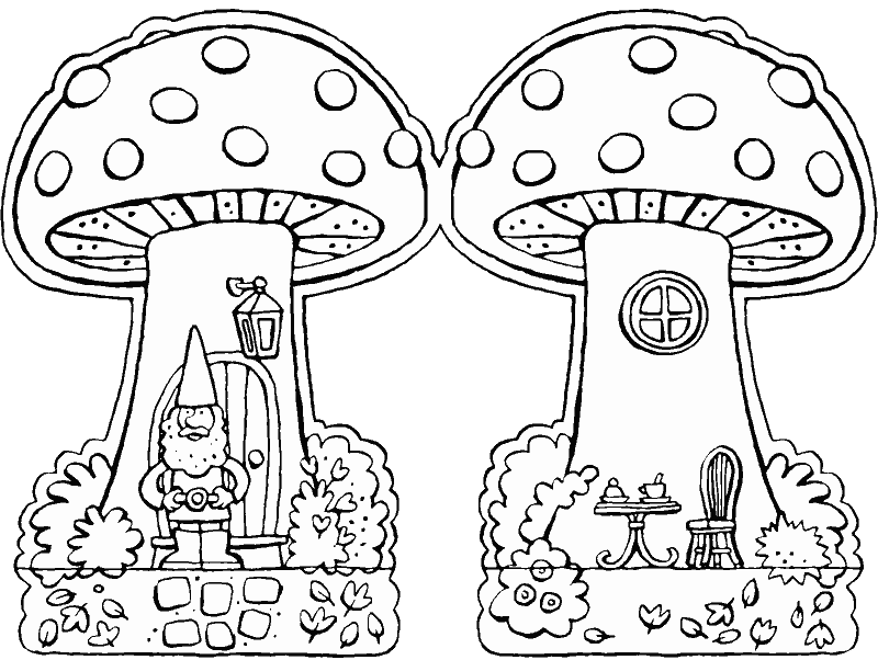 make your own toadstool colouring page drawing picture 01k